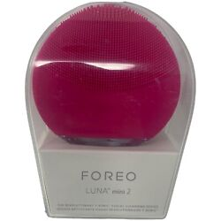 FOREO Luna Mini 2 Pearl Pink Revolutionary T Sonic Facial Cleansing Device NEW $34.99