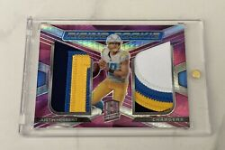 Justin Herbert 2020 Panini Spectra Rising Rookie Dual Patch # 15 RC Chargers $300.00