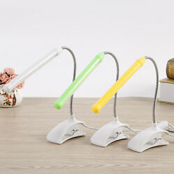 USB LED Reading Lamp Clip on Clamp Home Bed Table Desk Bendable Night Light Home $10.25