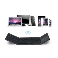 Mini Foldable Wireless Bluetooth Keyboard with Touchpad for PC Smartphone Table $37.90