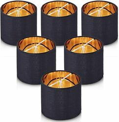 Wellmet Small Lamp Shade for Chandelier Clip on Drum Set of 6 5.5quot; x 5.5quot;NEW $60.75