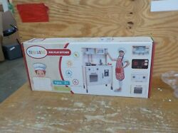 Play Kitchen for Kids with 18 Pcs Toy Food amp; Cookware Accessories Playset Wooden $120.00
