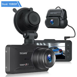 TOGUARD Dual Dash Cam Front and Rear HD 1080P GPS 3quot; IPS Car Camera Night Vision $63.95