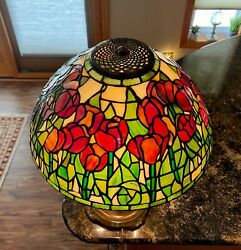 16#x27;#x27; Tiffany Reproduction Replica Tulip Stained Glass Lamp Shade $499.99
