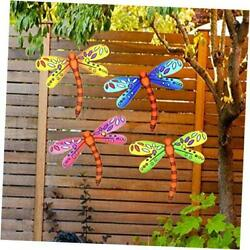 3D Metal Dragonfly Wall Accents Dragonfly Wall Decor Sculpture Hang Outdoor $27.33