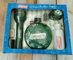 Coleman Flashlight Canteen Head Lamp Light Thermometer Water Bottle Combo Kit $29.00