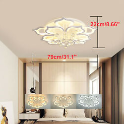 31.1quot; Modern LED Dimmable Chandeliers Modern Flush Mounted Crystal Lighting $188.00