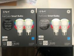 GE Lighting 93105377 C by GE LED A19 Full Color Works with Alexa and Google Ass