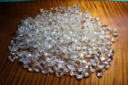 400 PCS Clear Crystal Glass Chandelier Prisms Octagonal Buttons..5 8...Lead $34.99