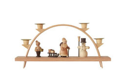 Candle Arches 5 1 8in Christmas Chandelier Bow Erzgebirge New Seiffen Christmas $50.47