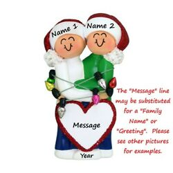 PERSONALIZED Our First Christmas Couple Ornament Dated Keepsake Holiday Gift $14.95