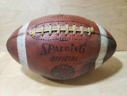 Vintage Spalding Official Leather Football w Laces Model 329. 1950s $70.50