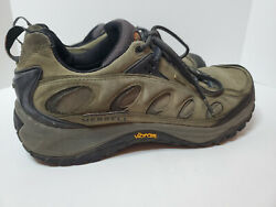 Mens 13 Merrell Moab Waterproof Low Green Leather Hiking Shoes $34.99