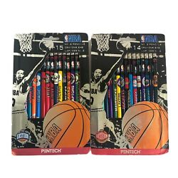 NEW Vintage NBA 1997 Western And Eastern Pencils In Package. Sealed. Made In Usa $22.59
