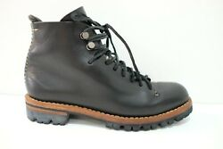 FEIT Handsewn Vegetable Tanned Hiker Boots Leather Shoes Black 37 7 Womens
