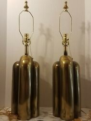 Authentic 1950#x27;s Westwood Brass Lamps MCM Mid Century Modern Rewired $1775.00
