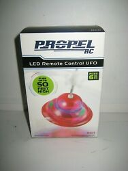 Propel RC LED Remote Control UFO in Red New and Sealed $11.99