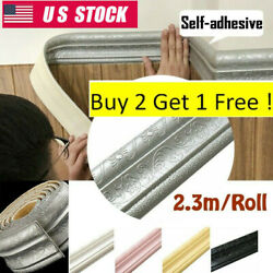 7.5ft DIY Wall Paper Border Oil Waterproof Self adhesive Wall Sticker Home Decor $6.34