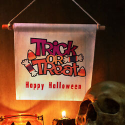 Funny Trick or Treat Tapestry Halloween Witch Letter Wall Hanging Cover Home Hot C $6.39