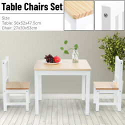 2 Seater Dining Table And Chairs Breakfast Kitchen Room Small Furniture Set $82.53