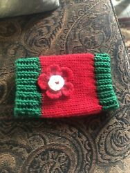 new knitted dog cat sweater hand crafted xsmall Pet Supplies Red Green $4.89