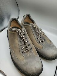 Born 12 Mens Shoes Driver Gray Leather Comfort Casual Bicycle Toe Lace Up Nice $39.00