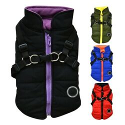 Pet Dog Vest Jacket Warm Waterproof Clothes Padded Puppy Coat Small Large $12.89