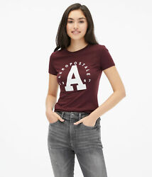 aeropostale womens large letter arch appliquac graphic tee