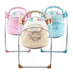 RC USB Electric Baby Swing Cradle Infant Music Rocking Chair Sway Seat Bouncer $81.01