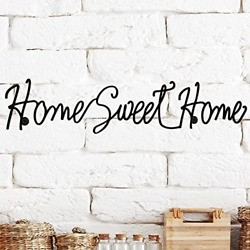 Home Sweet Home Cursive Metal Cutout Sign Rustic Decor Wall Hanging 32 Inch $17.98