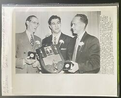 1952 AP Wirephoto Heavyweight Champion Rocky Marciano Honored by Boxing Writers $19.99