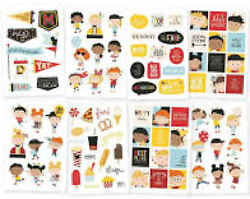 #145 SIMPLE STORIES SAY 4 CHEESE HAPPY KIDS STICKERS 93 PIECES EMBELLISHMENTS $3.50