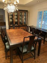 Vintage Century Chin Hua Dining Table w 6 Chairs amp; China Cabinet $1950.00