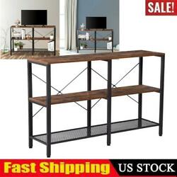 Industrial Console Table Vintage Accent Sofa Side Table For Entryway Living Room $61.69