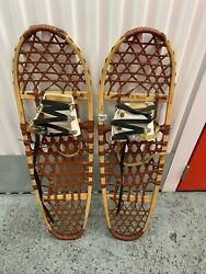Rare Vintage LL Bean 10 x 36 Wood and Leather Snowshoes Snow Shoes New Nver Used $209.00