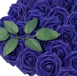 Wrapables Artificial Rose Flower Real Touch Flowers DIY Wedding Bouquets Indigo $17.99