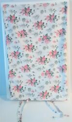 Ikea Emmie Sot Pink Roses Pillowcase Sham With Ties Standard Size Shabby Chic $17.95