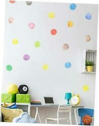 Polka Dot Wall Decals Watercolor Dots Multicolor Wall Stickers for Home Kids $25.24
