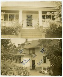 FAMILY HOME ROOMS LABELED IN INK VINTAGE 1940 ALTOONA PA SNAPSHOT PHOTOS $10.00