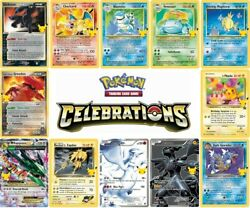 2021 Pokemon Celebrations Singles Choose Your Card Many Available All NM $8.95