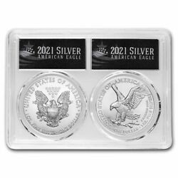 2021 2 Coin Silver Eagle Set MS 70 PCGS Type 1 amp; 2 FirstStrike $149.99