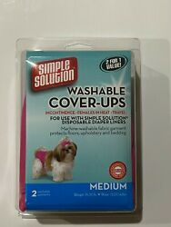 Simple Solution Dog Washable Cover Ups Medium 2 Pack Pink and Purple New $14.94