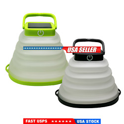 LED Solar Camping Lantern USB Rechargeable Poldable Collapsible Tent Lamp $16.21