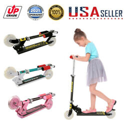 Kids Scooter Deluxe Adjustable Kick Scooters Girls Boys with LED Light Wheels 🛴 $39.99