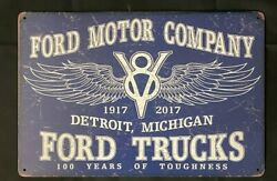 Ford Trucks Vintage Antique Collectible Tin Metal Sign Wall Decor $10.49