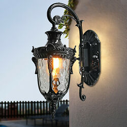 Front Porch Light Fixture Wall Outdoor Exterior Lighting Mounted Lantern LED