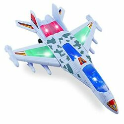 Airplane Toy Electric Plane Toy Model with LED Flashing Lights and Sounds $17.37