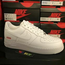 Supreme x Nike Air Force 1 Low White CU9225 100 NEW IN HAND FREE SHIP $159.99