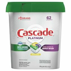 Cascade Platinum ActionPacs Fresh Scent with Dawn Dishwasher Pods 62 Count $20.00