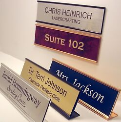 NAME PLATE for office desk or door sign plaque personalized by Lasercrafting $5.99